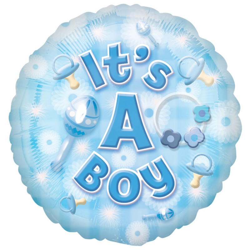 baby boy foil balloon local birmingham florists. Black Bedroom Furniture Sets. Home Design Ideas