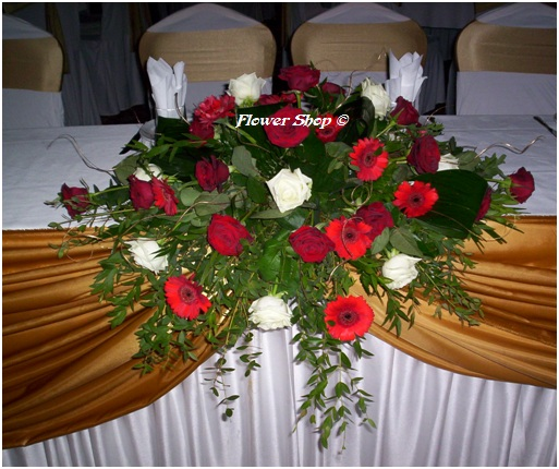 Wedding Head Table Flowers: Wedding Local Flower Shops